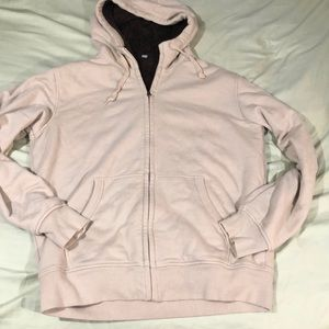 Uniqlo Sherpa lined zip up hoodie L